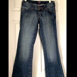 Low Rise Flared Jeans